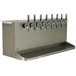 Under Bar Dispensing Cabinet - Glycol Cooled - 8 304 Faucets # SB838-KR
