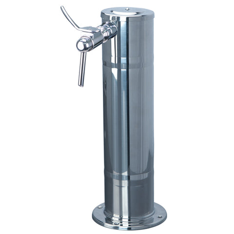 "Wine Column (1 Faucet- 4"" Column, Polished Stainless Steel) # DS-141-PSS-W"