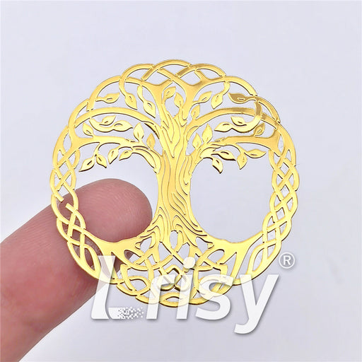 5 Size In 1 Set Tree of Life Coppering Metal Sticker Golden Stuffers ZJ302