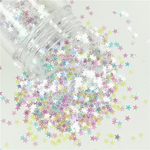 Star Shapes Rainbow Glitter C022