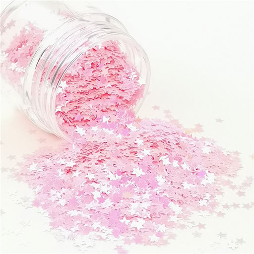 Star Shapes Rose Pink Glitter