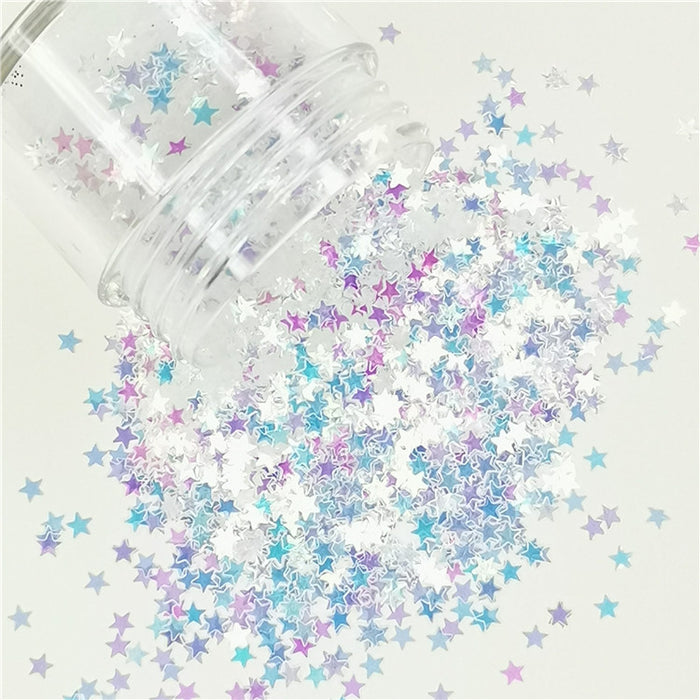 Stars Shapes Dream Blue Glitter C004