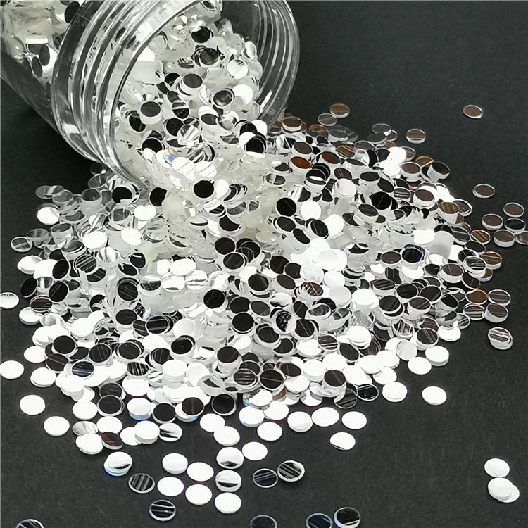 Round Shapes Mirror Silver Glitter GSY001