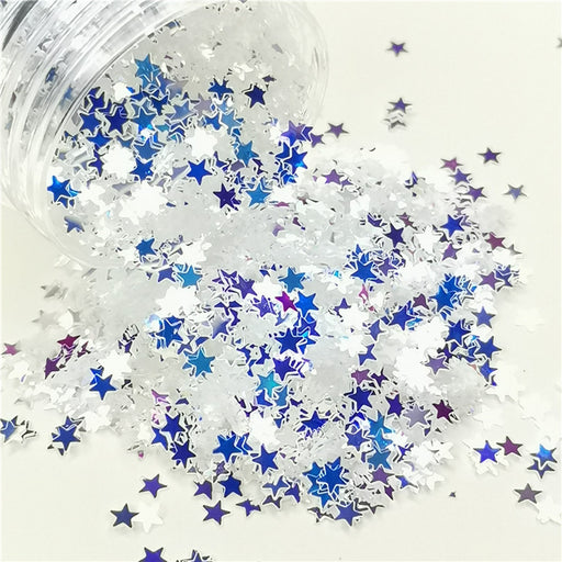 Star Royal Blue Glitter