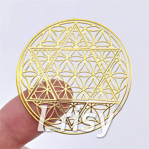 5 Size In 1 Set Sri Yantra Lotus Coppering Metal Sticker Golden Charm ZJ308