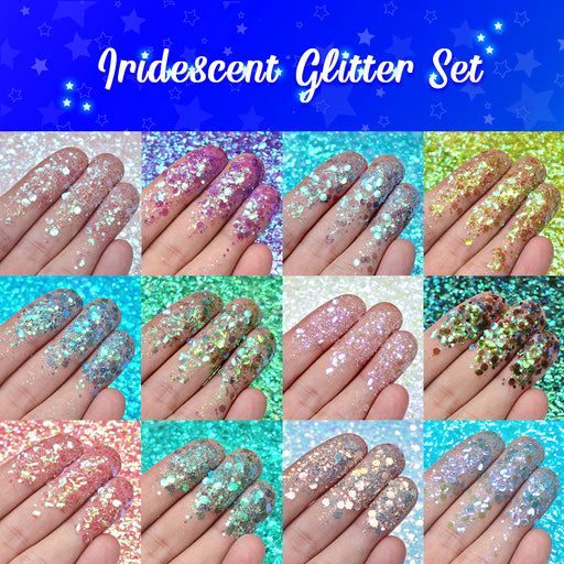 Lrisy Iridescent Glitter Set 12 Of Color (Total 120g)