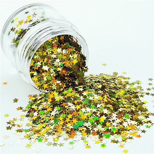Star Shapes Laser Gold Glitter LB0210