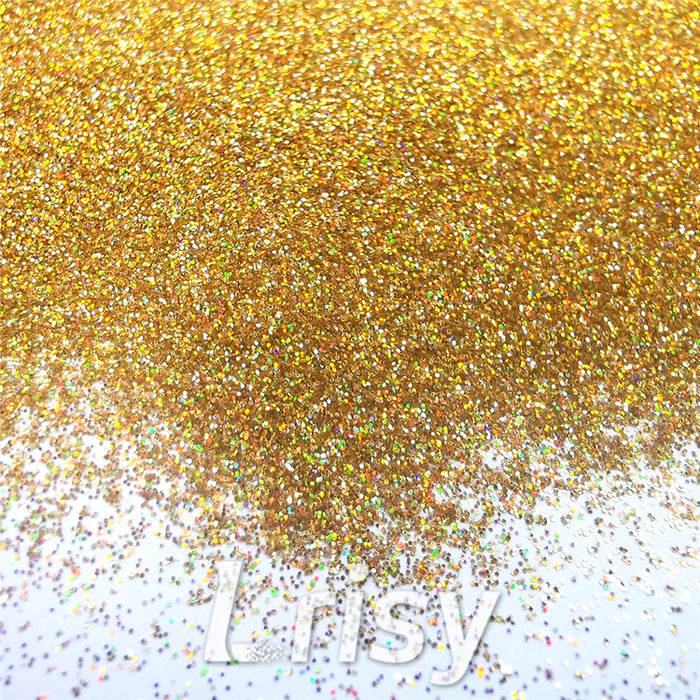 0.2mm Hexagon Shapes Laser Red Gold Glitter LB0200