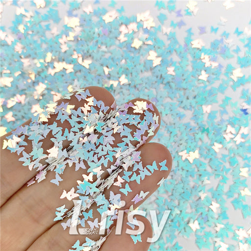 Butterfly Ice Blue Glitter
