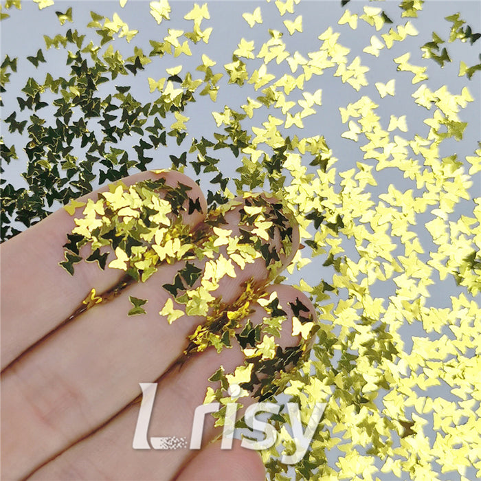 Butterfly Shapes Gold Glitter B0203