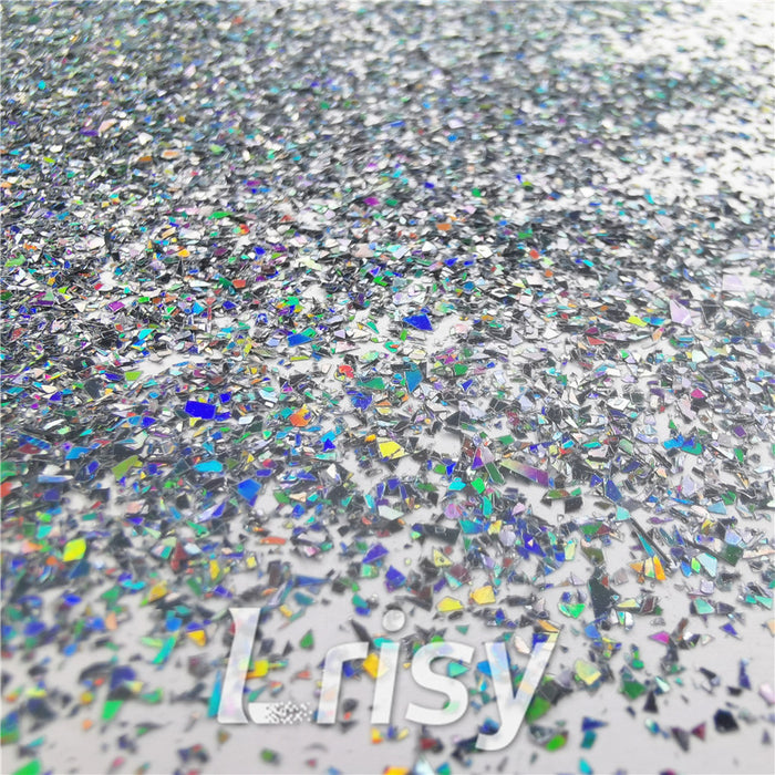 Holographic Black Metal Opa Cellophane Shard Confetti Glitter Sprinkle Toppings LB01002