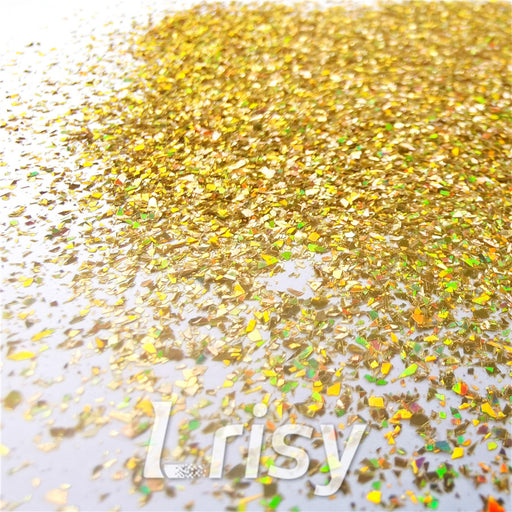 Holographic Red Gold Opa Cellophane Shard Confetti Glitter Sprinkle Toppings