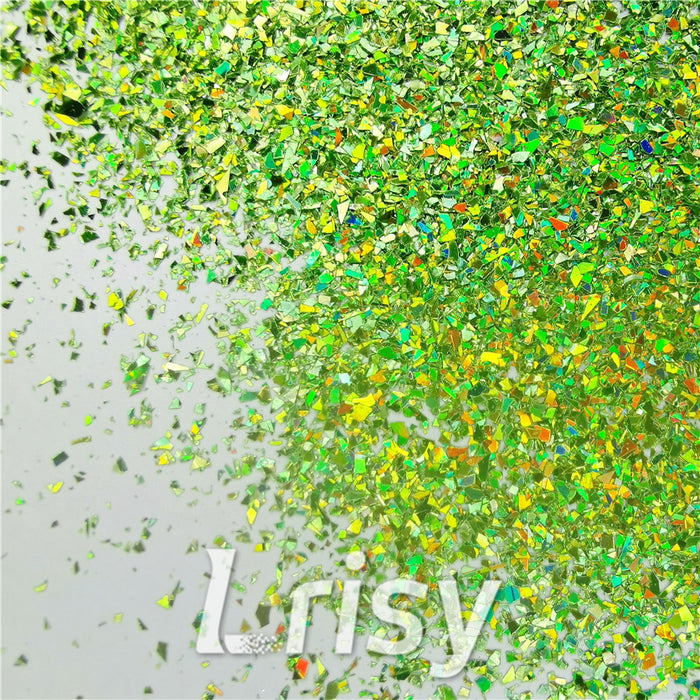 Holographic Green Opa Cellophane Shard Confetti Glitter Sprinkle Toppings