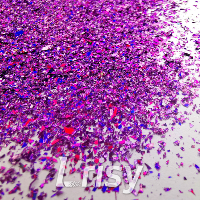 Holographic Purple Opa Cellophane Shard Confetti Glitter Sprinkle Toppings LB0800