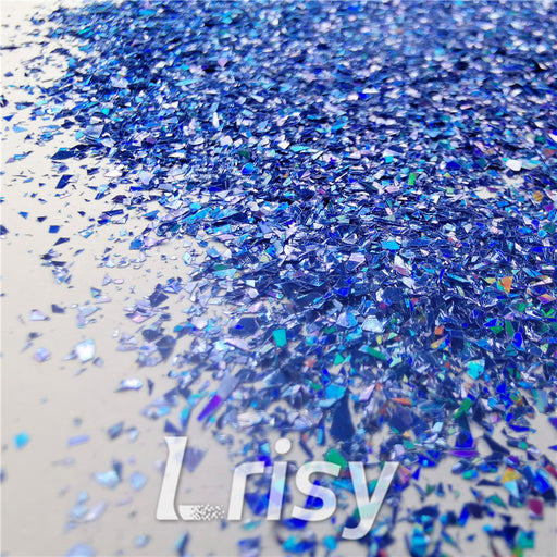 Holographic Sea Blue Opa Cellophane Shard Confetti Glitter Sprinkle Toppings