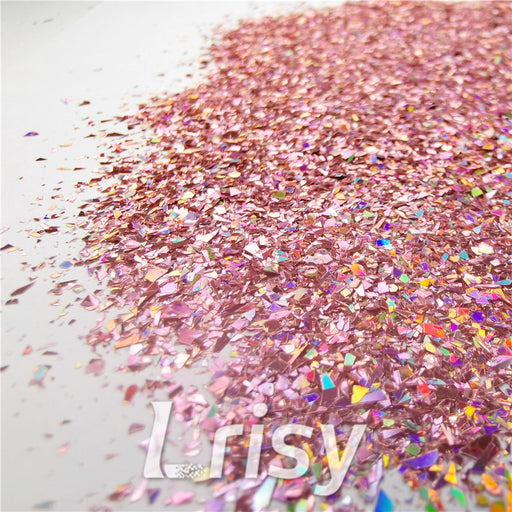 Holographic Hazy Pink Opa Cellophane Shard Confetti Glitter Sprinkle Toppings