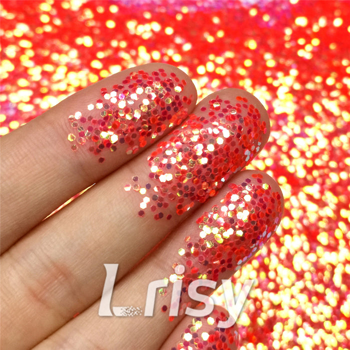 1mm Hexagon Shaped Iridescent Glitter FC334