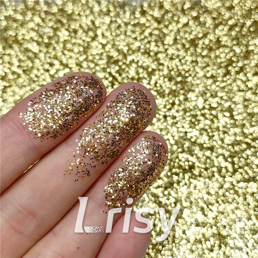 0.2mm hexagon gold cosmetic grade biodegradable glitter in bulk BIO002