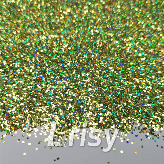 0.8mm Hexagon Cosmetic Grade Holographic Grass Green Glitter SLG007