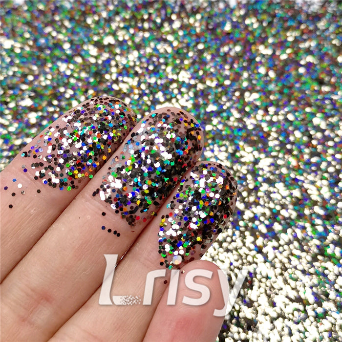 0.8mm Hexagon Cosmetic Grade Holographic Brown Glitter SLG012