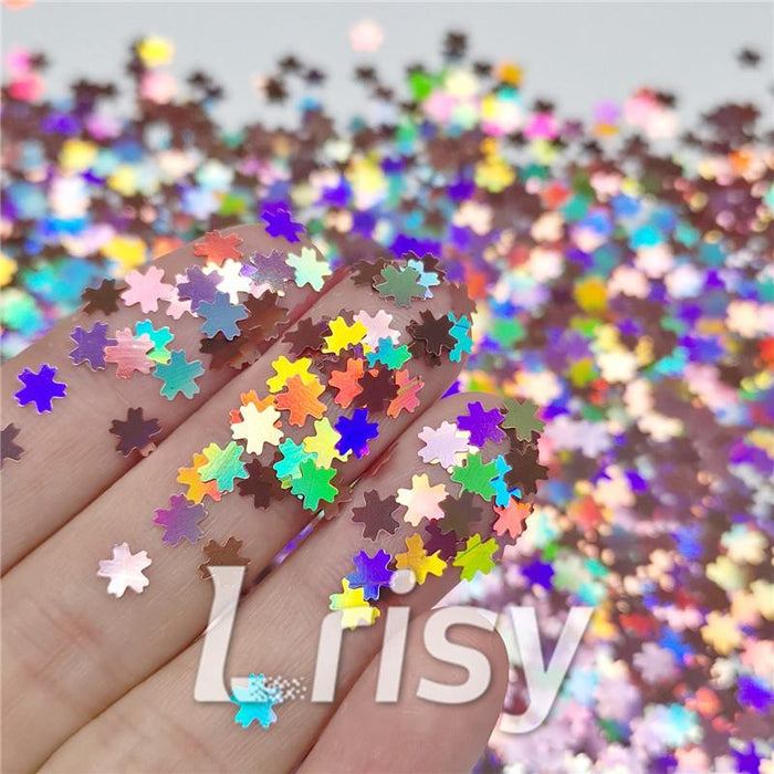 5mm Cherry Blossoms Shaped Holographic Hazy Pink Glitter LB0911