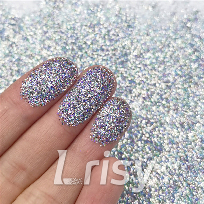 0.2mm Holographic Pigment Silver Glitter Cosmetic Grade SLG001