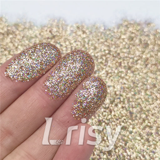 0.2mm Holographic Pigment Sand Gold Glitter Cosmetic Grade SLG002