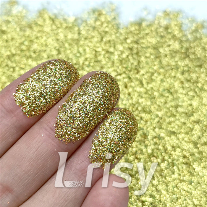 0.2mm Holographic Pigment Gold Glitter Cosmetic Grade SLG003