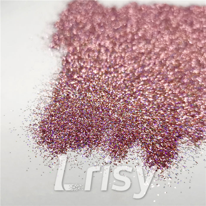 0.2mm Holographic Pigment Pink Glitter Cosmetic Grade SLG006