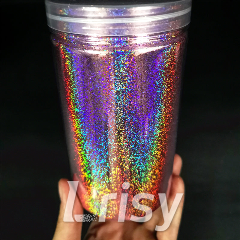 0.2mm Holographic Pigment Light Pink Glitter Cosmetic Grade SLG005