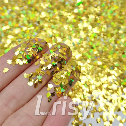 Cloud Shapes Laser Gold Glitter LB0210