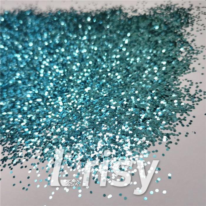 1mm Hexagon Shapes Sky Blue Glitter B0711