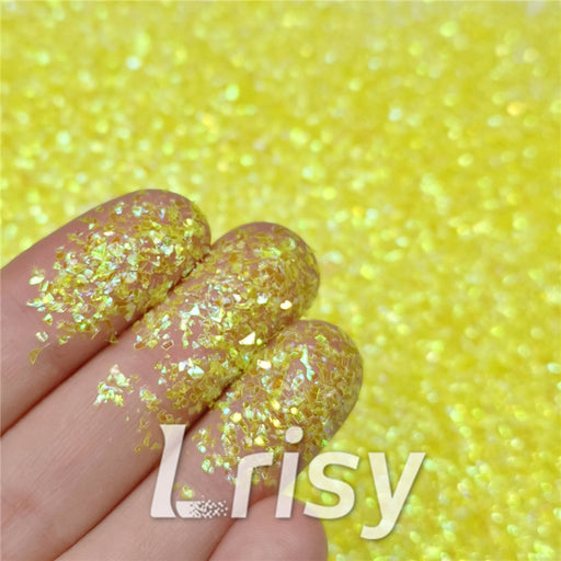 Iridescent Cellophane Glitter Flakes Shard C050