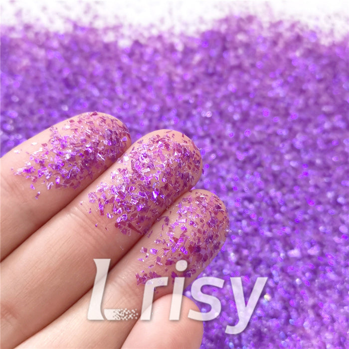 Iridescent Cellophane Glitter Flakes Shard C046