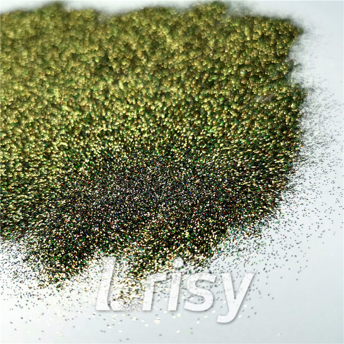 0.2mm Holographic Pigment Olive Green Glitter Cosmetic Grade SLG010