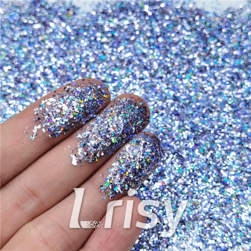 Cellophane Flakes Shard Holographic Pigment Metallic Glitter Solvent Resistant SLG004
