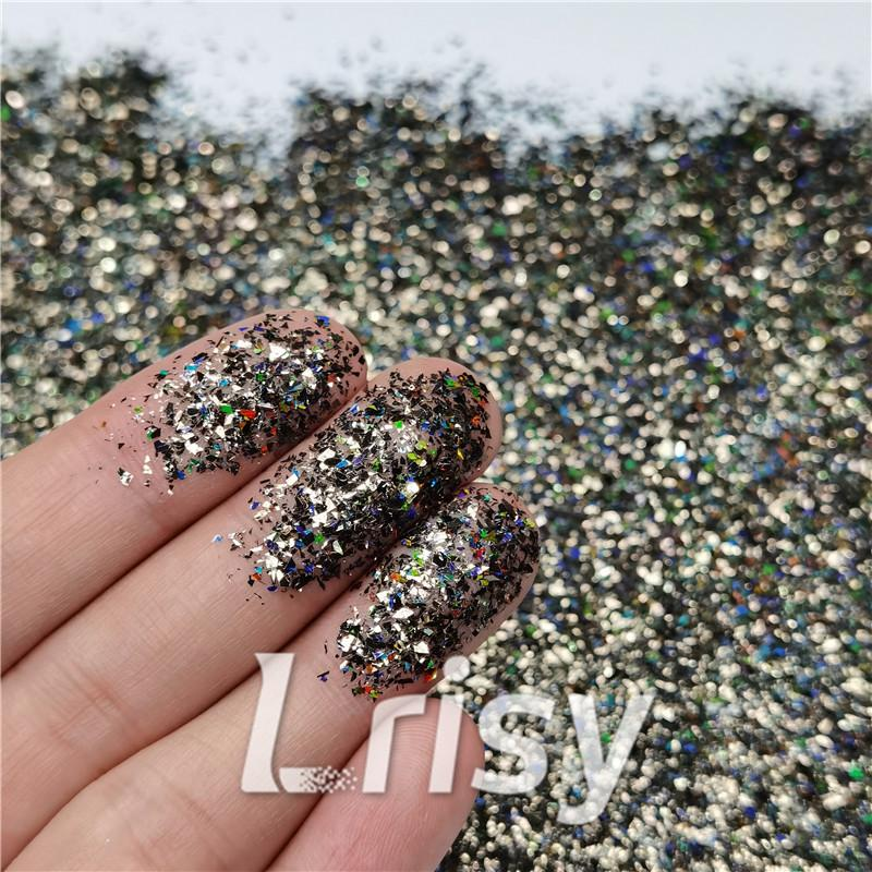 Cellophane Flakes Shard Holographic Pigment Brown Glitter Solvent Resistant SLG012
