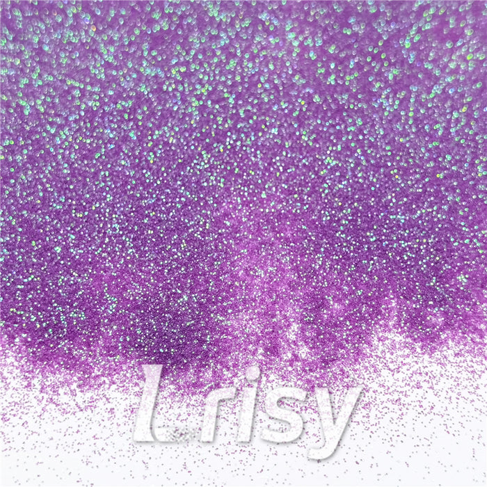 0.2mm Iridescent Translucent Light Purple Glitter C006