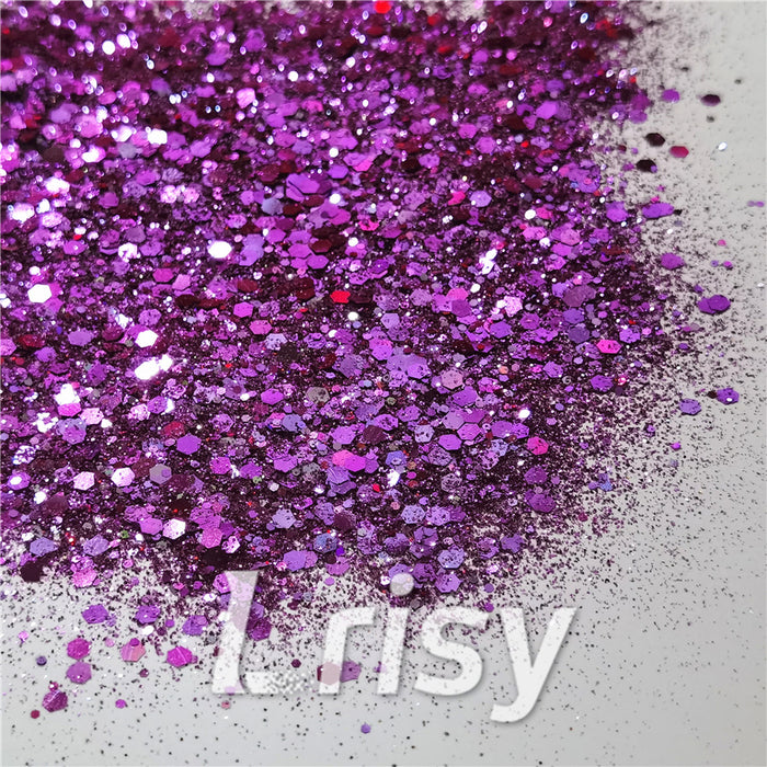 General Mixed Iridescent Phantom Purple Glitter C-BSL009