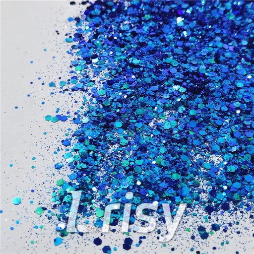 General Mixed Iridescent Phantom Blue Glitter C-BSL007