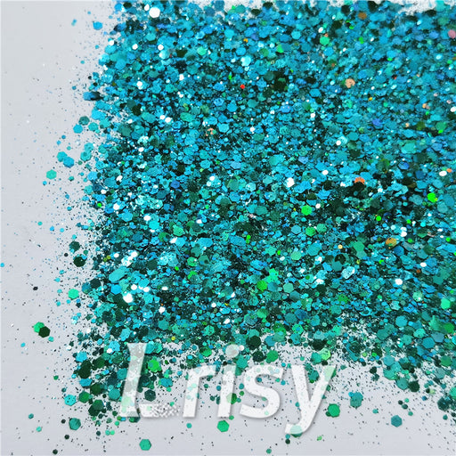 General Mixed Iridescent Phantom Lake Green Glitter C-BSL006