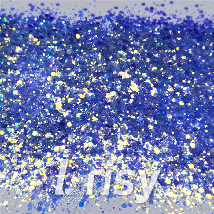 General Mixed Fluorescent Blue High Brightness Glitter FC337