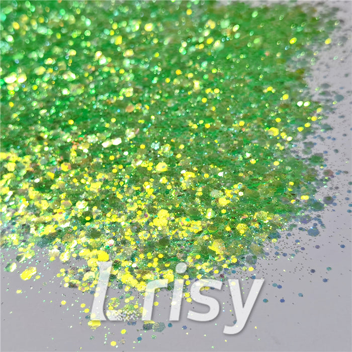 General Mixed Fluorescent Green High Brightness Glitter FC333A
