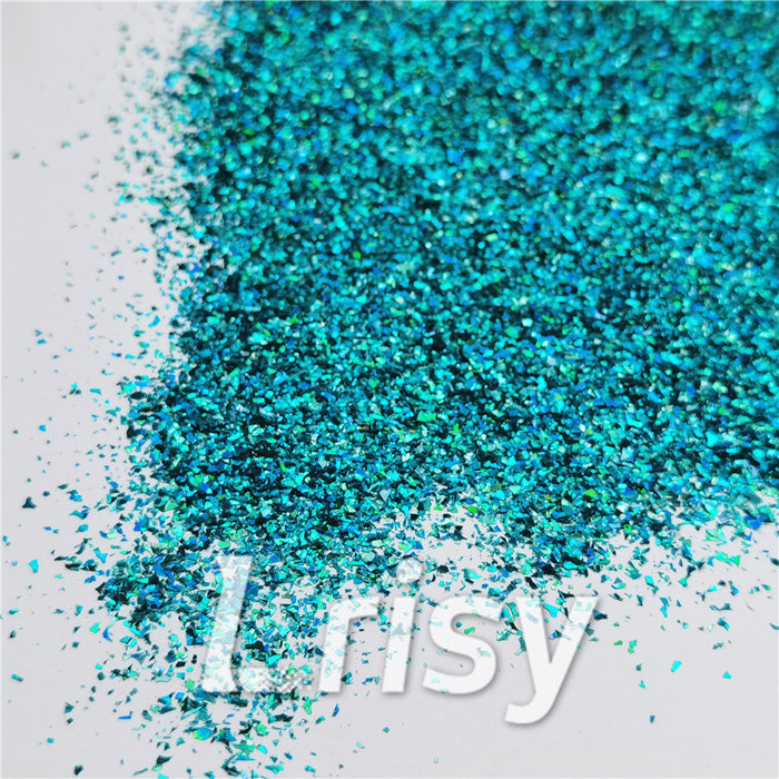 Holographic Lake Blue Cellophane Shard Confetti Glitter LB0701