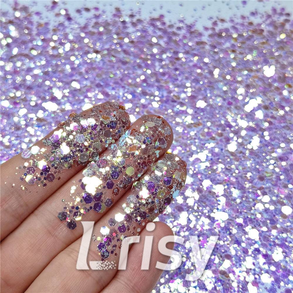 General Mixed High Brightness Purple Glitter FC-NIB