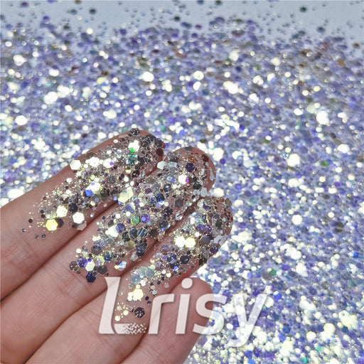 General Mixed High Brightness Bluish Violet Purple Glitter FC-F321A