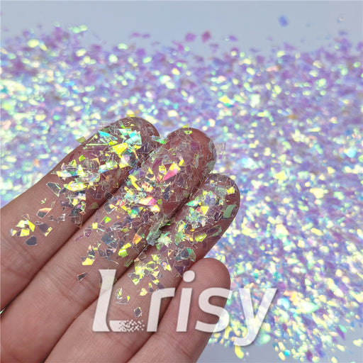 Iridescent Cellophane Glitter Flakes Shard C004 4x4