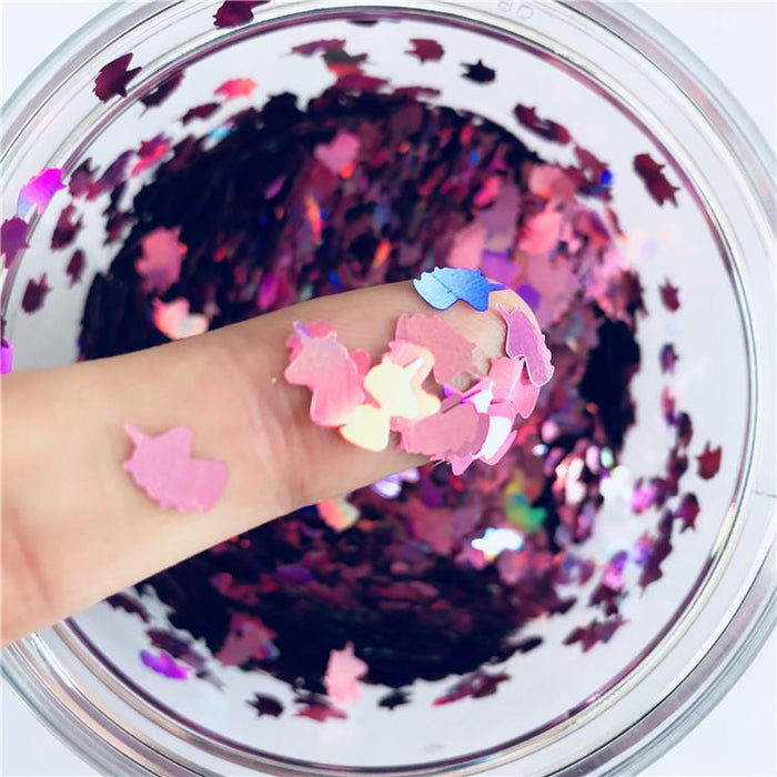 Unicorn Shapes Laser Pink Glitter LB0901