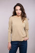 Rolled Boat Neck Hi-Lo Sweater