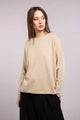 Rolled Edge Boat Neck Sweater